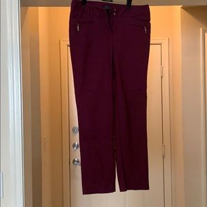 Perfect Form Burgundy Ankle Pants - 2R